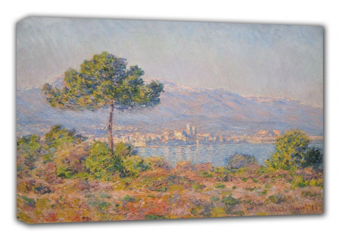 Monet, Claude: Antibes Seen from the Plateau Notre-Dame. Fine Art Landscape Canvas. Sizes: A3/A2/A1 (00519)